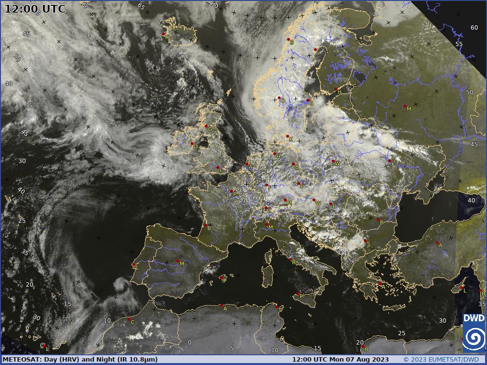 © DWD   Internetwetter -wissen, wie das Wetter wird-   Infrarot (IR)