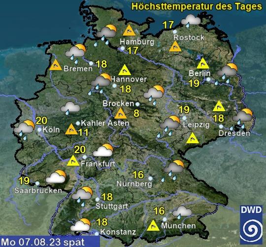 Deutschland Morgen Nachmittag