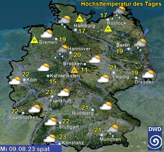 Deutschland Übermorgen Nachmittag