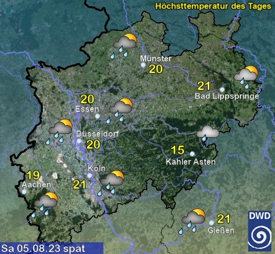 NRW Übermorgen Vormittag
